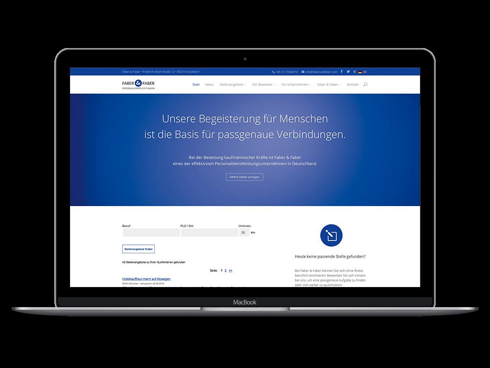 Die Website von Faber & Faber