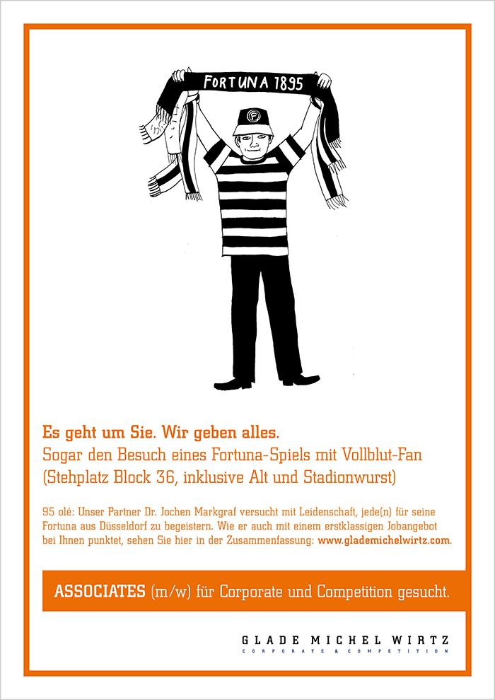 """Recruiting-Anzeige Glade Michel Wirtz """"Markgraf"""""""