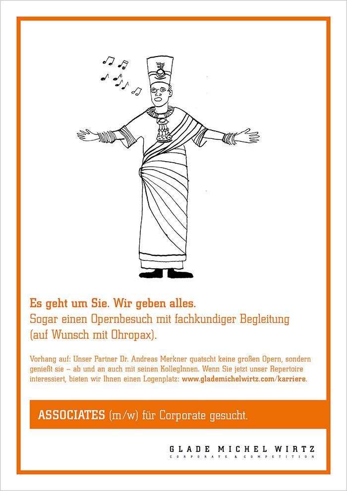 """Recruiting-Anzeige Glade Michel Wirtz """"Merkner"""""""