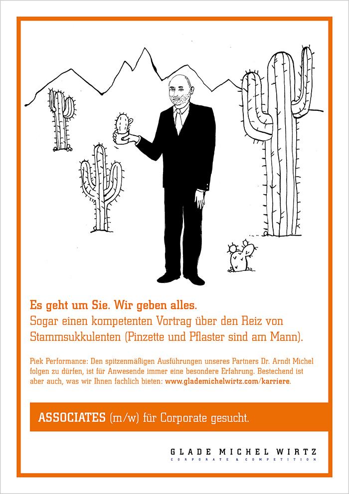 """Recruiting-Anzeige Glade Michel Wirtz """"Michel"""""""
